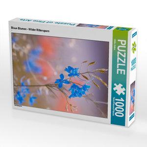 CALVENDO Puzzle Blaue Blumen - Wilder Rittersporn 1000 Teile Leg