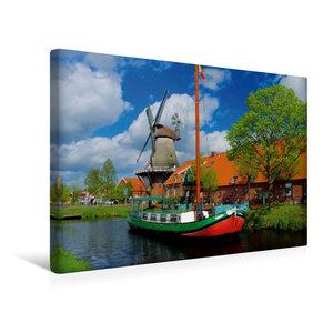 Premium Textil-Leinwand 45 cm x 30 cm quer Mühle Ostgroßefehn