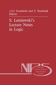 S. Lesniewski's Lecture Notes in Logic
