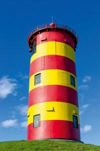 Premium Textil-Leinwand 80 cm x 120 cm hoch Leuchtturm Pilsum
