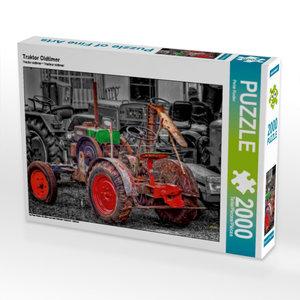 Traktor Oldtimer 2000 Teile Puzzle quer