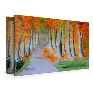 Premium Textil-Leinwand 90 cm x 60 cm quer Herbstzauber