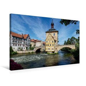 Premium Textil-Leinwand 75 cm x 50 cm quer Bamberg