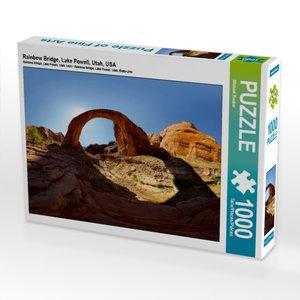 Rainbow Bridge, Lake Powell, Utah, USA 1000 Teile Puzzle quer