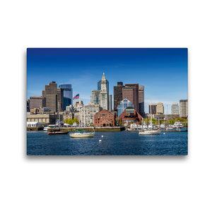 Premium Textil-Leinwand 45 cm x 30 cm quer BOSTON Skyline