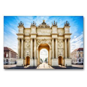 Premium Textil-Leinwand 90 cm x 60 cm quer Brandenburger Tor - P