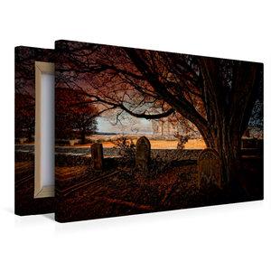 Premium Textil-Leinwand 45 cm x 30 cm quer Gothic Fantasy - Verg