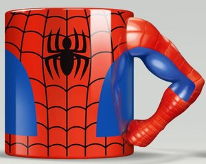 MARVEL Spiderman Tasse Torso mit 3D Arm, Mug, 350 ml