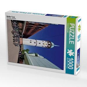 Weißer Turm 1000 Teile Puzzle hoch