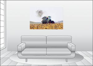 Premium Textil-Leinwand 120 cm x 80 cm quer Der Pflug wird gedre