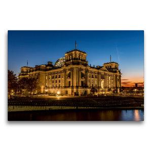 Premium Textil-Leinwand 75 cm x 50 cm quer Reichstag