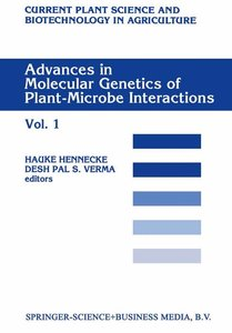 Advances in Molecular Genetics of Plant-Microbe Interactions, Vo