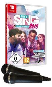 Let\'s Sing 2018 mit Deutschen Hits + 2 Mics, 1 Nintendo Switch-