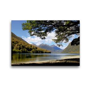 Premium Textil-Leinwand 45 cm x 30 cm quer Mirror Lakes