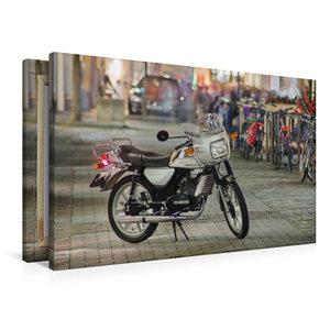 Premium Textil-Leinwand 90 cm x 60 cm quer Zündapp KS 50 Waterco
