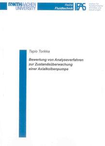 Bewertung von Analyseverfahren zur Zustandsüberwachung einer Axi