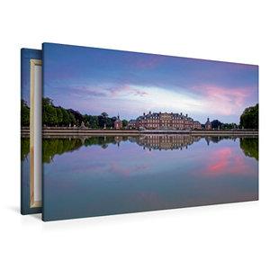 Premium Textil-Leinwand 120 cm x 80 cm quer Wasserschloss Nordki
