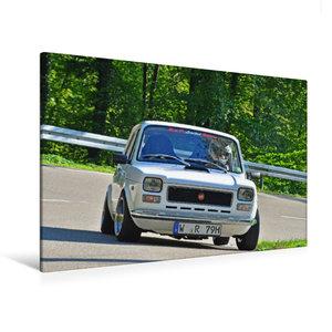 Premium Textil-Leinwand 120 cm x 80 cm quer Fiat 127 Abarth Bj.