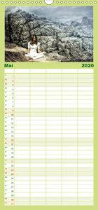 Bergmeditationen - Familienplaner hoch (Wandkalender 2020 , 21 c