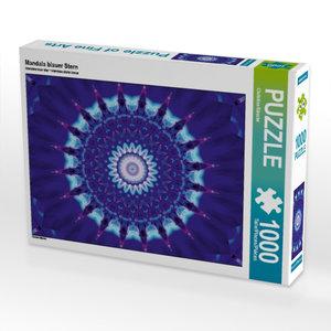 Mandala blauer Stern 1000 Teile Puzzle quer