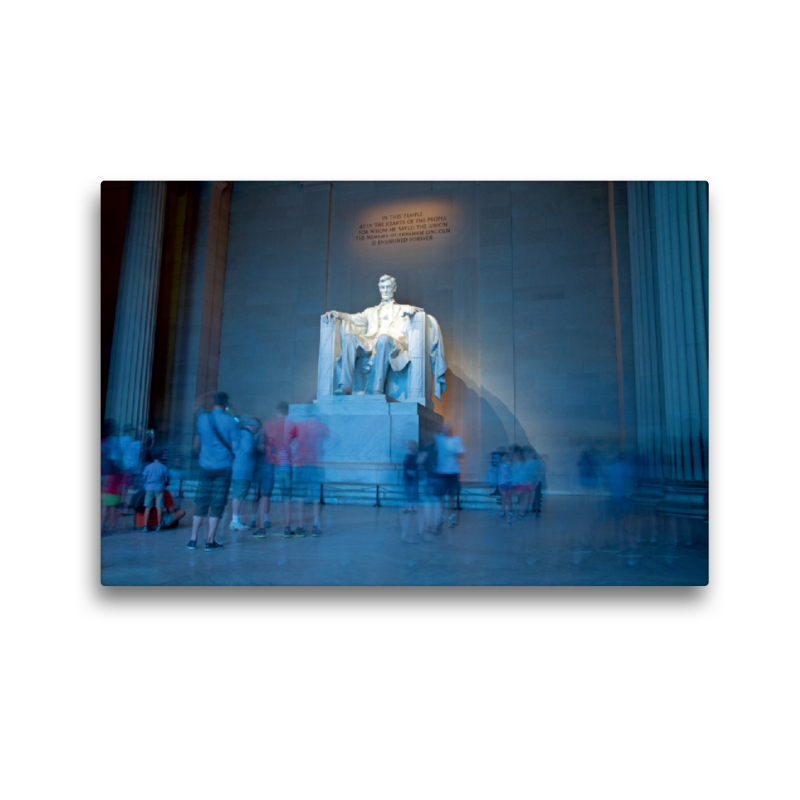 Premium Textil-Leinwand 45 cm x 30 cm quer Lincoln Monument - zum Schließen ins Bild klicken