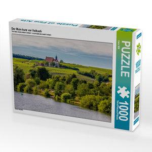 Der Main kurz vor Volkach 1000 Teile Puzzle quer