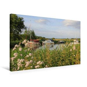 Premium Textil-Leinwand 75 cm x 50 cm quer Boote am River Frome