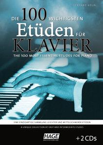 Die 100 wichtigsten Etüden für Klavier + 2 CDs