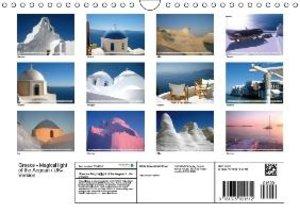 Greece - Magical light of the Aegean / UK-Version (Wall Calendar