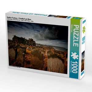 Gothic Fantasy - Friedhof am Meer 1000 Teile Puzzle quer