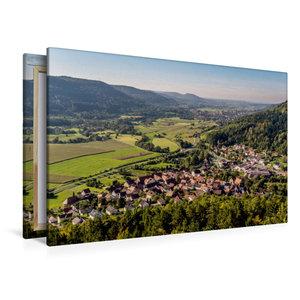 Premium Textil-Leinwand 120 cm x 80 cm quer Blick vom Hummerstei