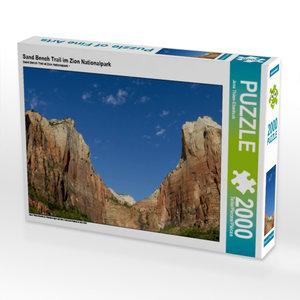 Sand Bench Trail im Zion Nationalpark 2000 Teile Puzzle quer