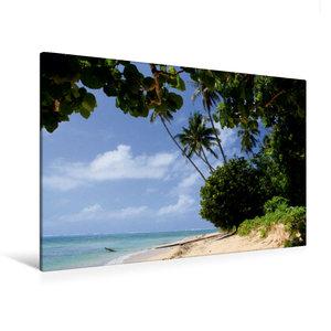 Premium Textil-Leinwand 120 cm x 80 cm quer Lavena auf Taveuni,