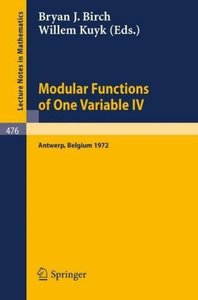 Modular Functions of One Variable IV