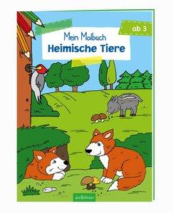 Malbuch ab 3 Jahren - Heimische Tiere VE 5