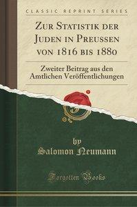Zur Statistik der Juden in Preussen von 1816 bis 1880