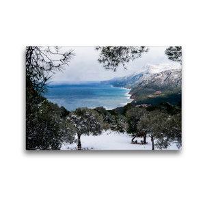 Premium Textil-Leinwand 45 cm x 30 cm quer Winterstimmung mit Sc