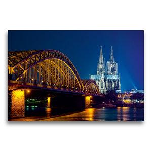 Premium Textil-Leinwand 75 cm x 50 cm quer Köln