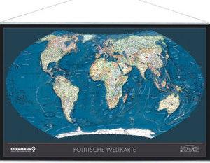 COLUMBUS Weltkarte TING - politisch / physisch