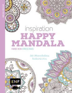 Inspiration Happy Mandala (Ausmalbuch für Erwachsene)