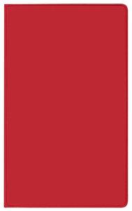 Taschenkalender Saturn Leporello PVC rot 2018