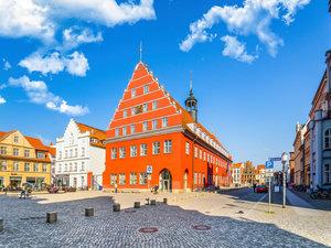 CALVENDO Puzzle Stadtverwaltung der Hansestadt Greifswald Stande