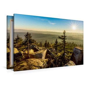 Premium Textil-Leinwand 120 cm x 80 cm quer Herbststimmung auf d