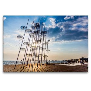 Premium Textil-Leinwand 120 cm x 80 cm quer Umbrellas Skulptur i