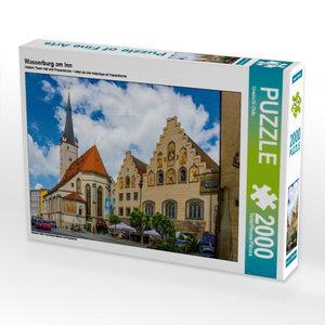 CALVENDO Puzzle Wasserburg am Inn 2000 Teile Lege-Größe 90 x 67