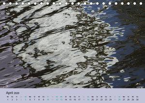 Farben des Wassers (Tischkalender 2020 DIN A5 quer)