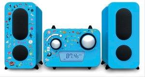 Stereoanlage CD/Radio blau inkl.Aufklebe