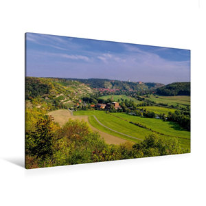 Premium Textil-Leinwand 120 cm x 80 cm quer Freyburg