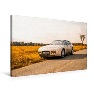 Premium Textil-Leinwand 75 cm x 50 cm quer Porsche 944 S2 in her