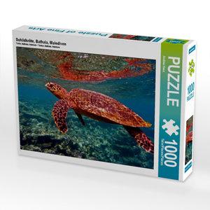 Schildkröte, Bathala, Malediven 1000 Teile Puzzle quer